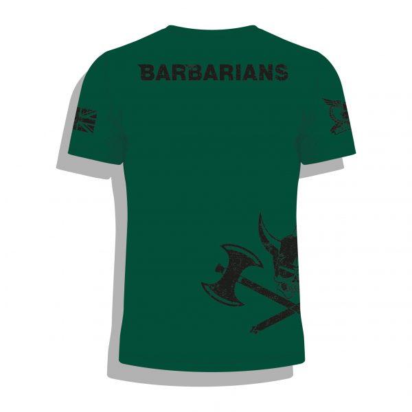 Barbarian Legion Airsoft BattleSim Team T Shirt Back